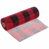 Buffalo Check Deco Mesh Ribbon - 10""